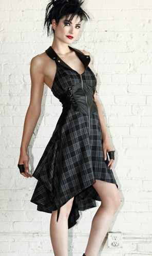 Lip Service Plaid Paradox Ballgown Dress :: VampireFreaks Store :: Gothic Clothing, Cyber-goth, punk, metal, alternative, rave, freak fashions