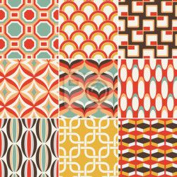 """Papier peint """"modèle, sans couture, arrière-plan - seamless pattern retro géométrique"""" ✓ Un large choix de matériaux ✓ Impression écologique 100% ✓ Regardez des opinions de nos clients !"""