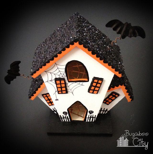 DIY Halloween Haunted Houses! Birdhouses work great too!