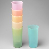Tupperware tumblers from 1957. My grandma got these before I was born and she still has them. They last forever.