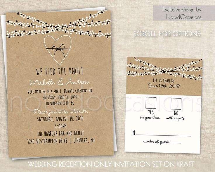 Reception Only Wedding Invitations: 1000+ Ideas About Reception Only Invitations On Pinterest