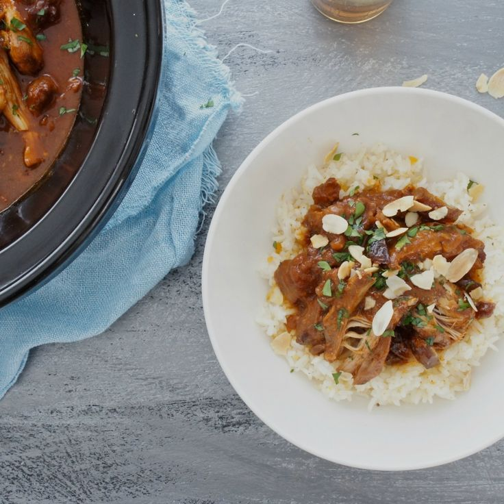 This Slow-Cooked Moroccan Chicken with Apricot Rice by Flangtry is rated FIVE STARS from a whopping 39 reviews!