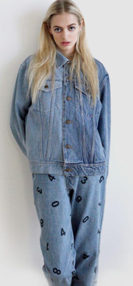 #woman #jeans #denim #print #blackfigure #highwaist #rock