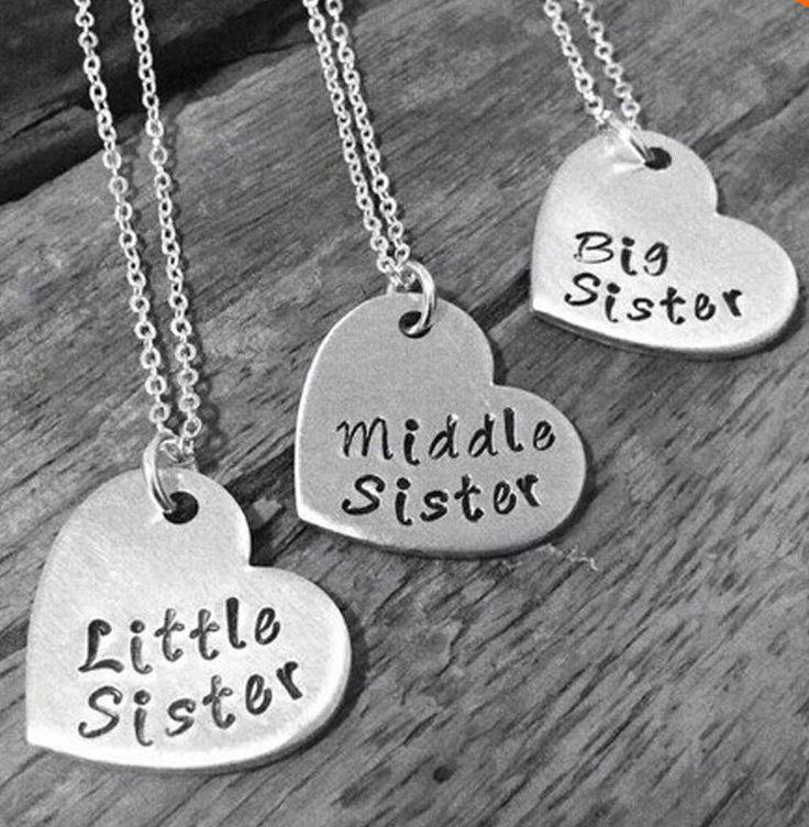 Little Sister/Middle Sister/Big Sister Necklace Set