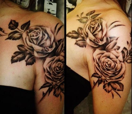 Obsessed with rose tatoos! Flowers in general are so pretty as tattoos!