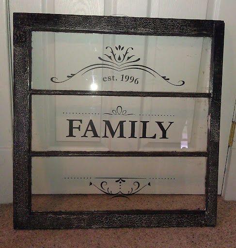 Old window frame idea.