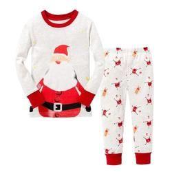 Christmas Kids Toddler Baby Boys warm Pyjamas Pajamas Set Pjs Nightwear Baby Sets baby clothing set autumn