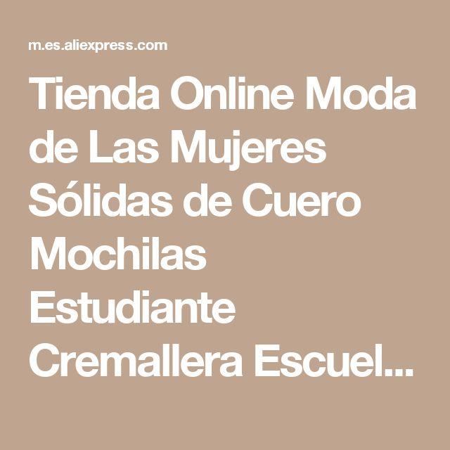 Tienda Online Moda de Las Mujeres Sólidas de Cuero Mochilas Estudiante Cremallera Escuela Mochila para Adolescentes Bolsa de Viaje Femenina Bolsa Mochila Feminina | Aliexpress móvil