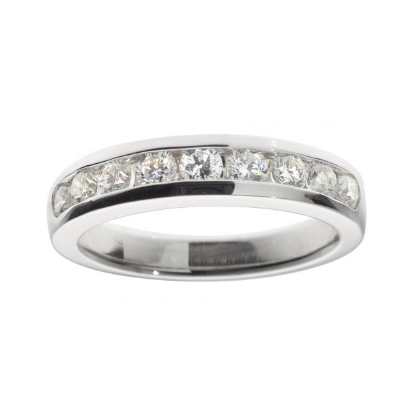 Mit Diamanten besetzter Memoire Ring Tallinn in 18-karätigem Weißgold