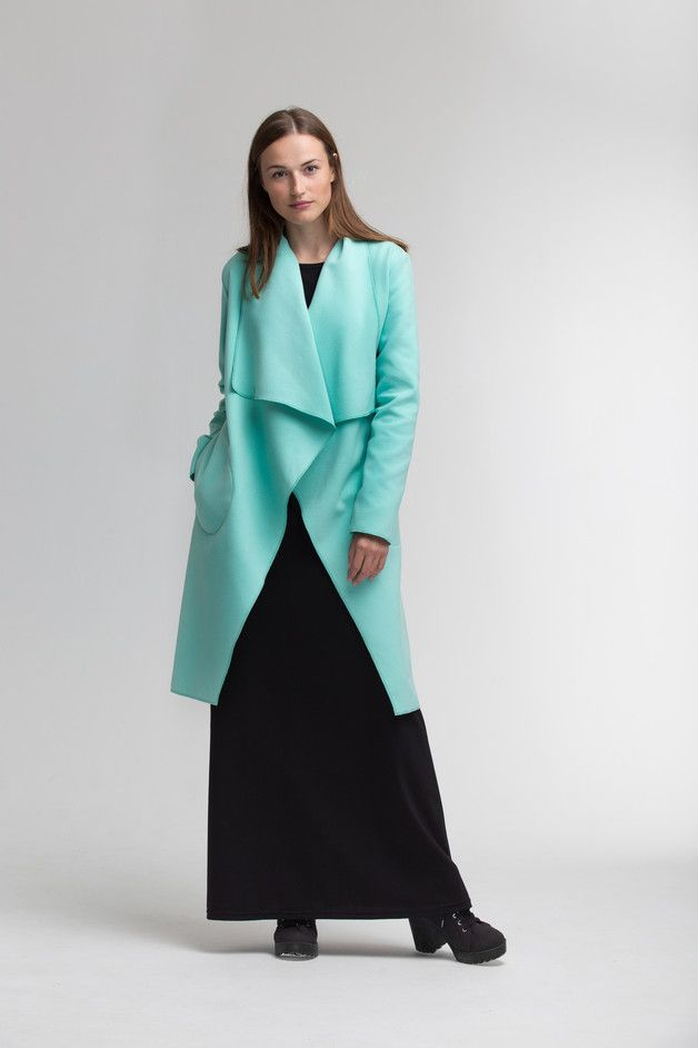 Long Coats – Elegant Wrap Coat – a unique product by Midnight45 on DaWanda