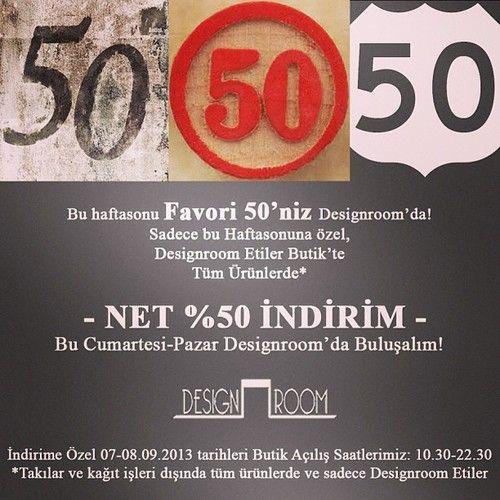 50sürprizimiz: bu haftasonu %50 indirim Designroom'da! Bekleriz! #indirim #shopping #surprise #surprizi #sale #designroom #alisveris #weekend #haftasonu #instamood #istanbul #etiler #picoftheday #gununkaresi #igersturkey #butik #boutique (Designroom'da)