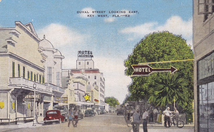 Great vintage postcard of Key West and La Concha Hotel!