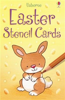 Easter stencil cards  A box of sturdy stencil cards with sixteen simple Easter shapes. Shapes include chicks, daffodils, lambs, bunnies and Easter eggs. Easy to use and perfect for home-made cards, decorations and other art activities.