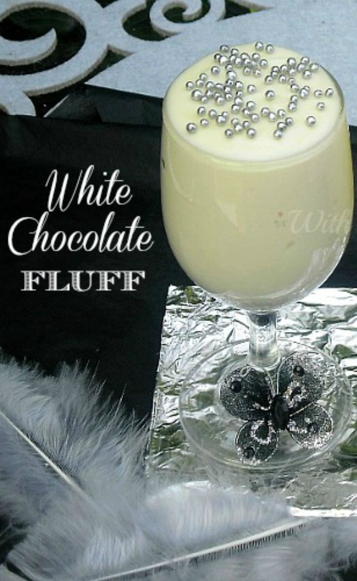 Light, fluffy White Chocolate mousse ~ elegant and perfect for guests on New Year's Eve or a treat for the family