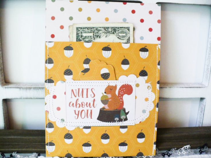 Friendship Card, Nuts About You, Boyfriend Card, Girlfriend Card, Fun and Quirky, Nerdy, Gift Card Envelope, Friend Gift