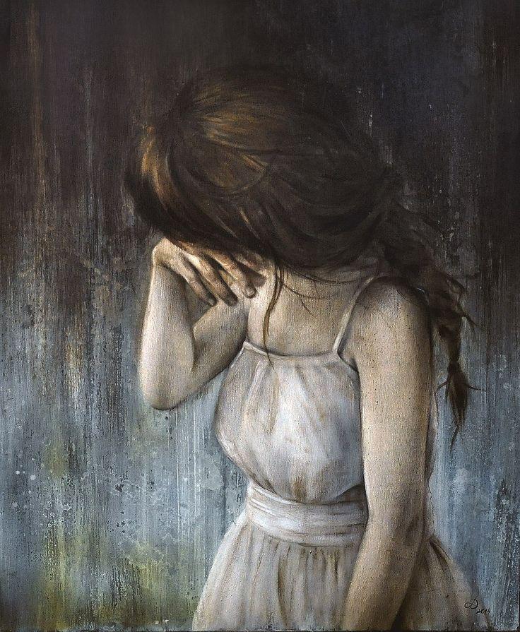 'Turgenev girl' board, oil & acrylic colour, 50×60 2014