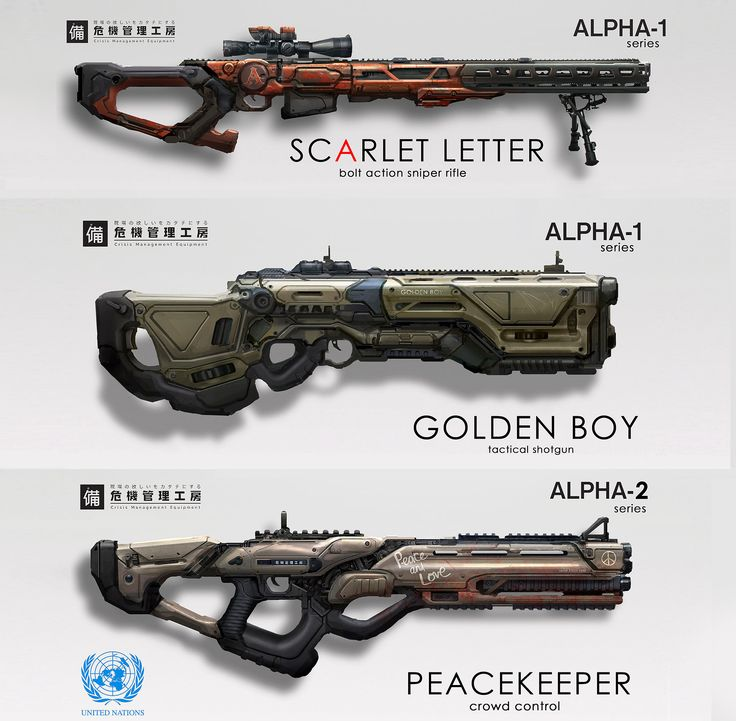 a couple of sci-fi weapon concepts for more art, feel free to follow me on facebook: http://facebook.com/eddie.mendoza.art