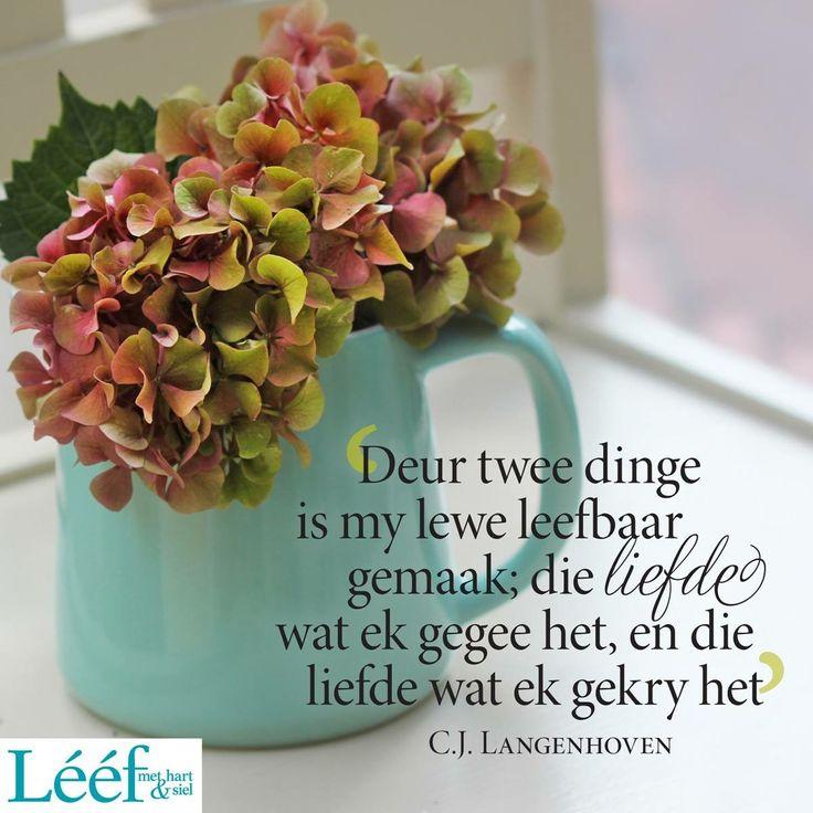 Die liefde wat ek gegee het, en die liefde wat ek gekry het | CJ Langenhoven