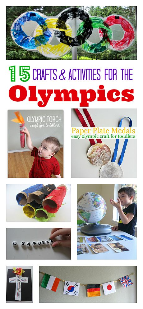 Great Olympic themed crafts that kids can do. Plus activities and books about all different cultures. Great way to use The Olympics as a launching pad for lots of learning!