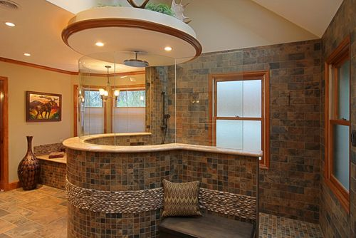 "This ""hidden in plain site"" accessible shower is very cool!More?  www.WhiteHair365.com"