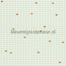 Vogels op abstracte achtergrond behang AS Creation Baby Peuter