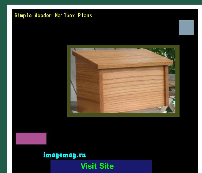 Simple Wooden Mailbox Plans 094604 - The Best Image Search
