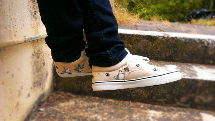 Hand painted totoro shoes!! Please check my etsy shop!! https://www.etsy.com/shop/MirandaKou?ref=hdr_shop_menu