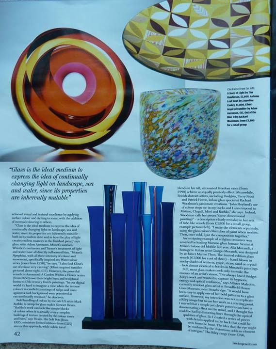 """Financial Times """"How to Spend It"""" Guide features Adam Aaronson's Glassware. April 12th 2014"""