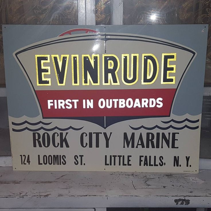 """18 Likes, 2 Comments - Pete Lacasse (@petelacasse) on Instagram: """"Evinrude outboard Motor NOS 1963....hard to find with the reflective paint. Gorgeous sign. #…"""""""