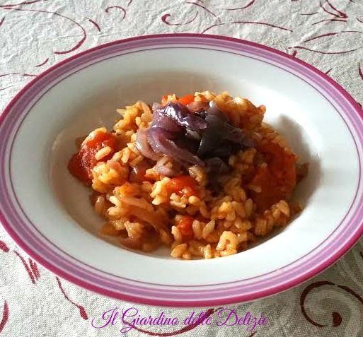 Riso+alle+cipolle+di+Tropea+e+pomodoro