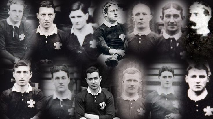 In the course of the Great War, Wales lost 13 rugby internationalists.  While some football clubs endeavoured to have their stars classified as essential war workers, the Welsh Rugby Union contacted clubs to urge players to answer the call of King and Country.  While football carried on until the close of the 1914-15 season, all rugby fixtures in Wales were cancelled on 4th September 1914.