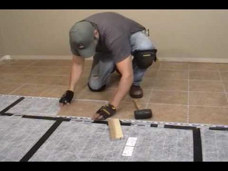 Heating A Tile Floor Diy ~ http://lanewstalk.com/the-heated-tile-floor-project-preparation/