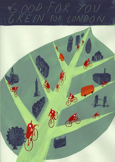Cycling in London: Poster competition at London Transport Museum. Winner - Good…