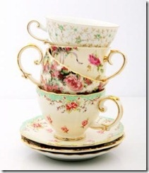love old-fashioned teacups