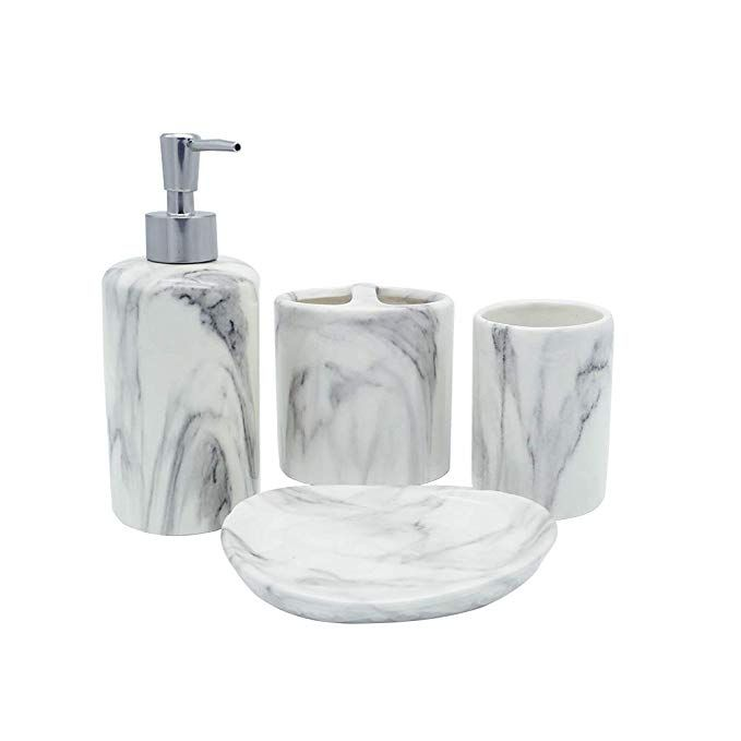 Coosa Ceramic Bathroom Accessories Set 4 Pieces Bath Ensemble
