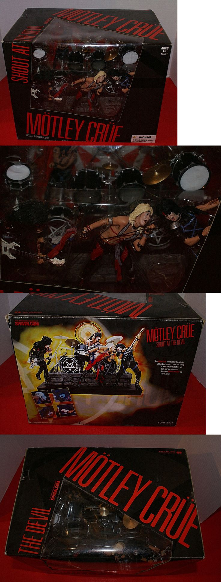 Music 175691: Mcfarlane Motley Crue Shout At The Devil Deluxe Boxed Set Nib New Sealed Rare! -> BUY IT NOW ONLY: $275 on eBay!
