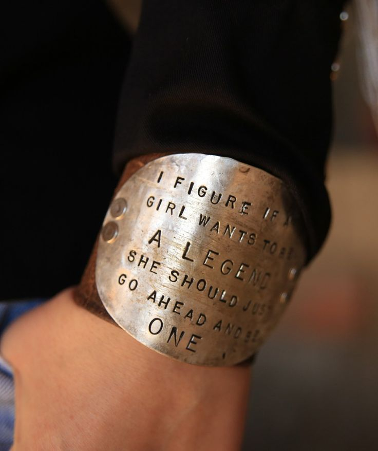 "LEGEND CUFF - Junk GYpSy co.""I figure if a girl wants to be a legend she should just go ahead and be one - Calamity Jane"