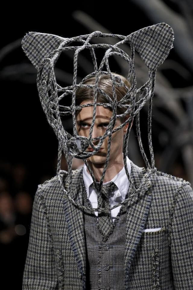 Stephen Jones for Thom Browne Menswear AW 2014