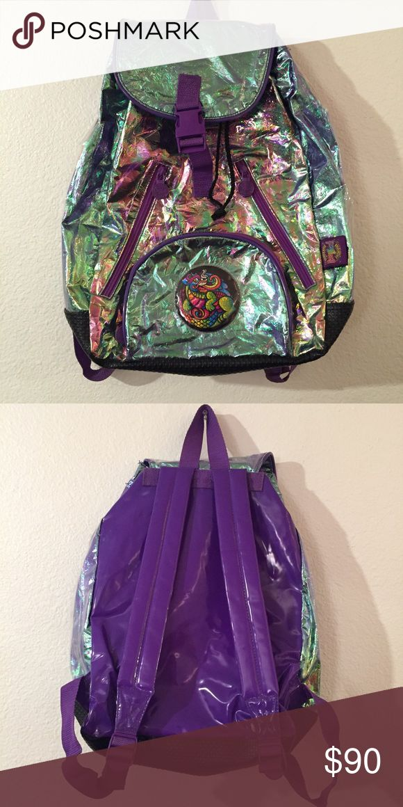 Rare Lisa Frank backpack Amazing iridescent Lisa Frank dragon backpack. Used but in really good condition! lisa frank Bags Backpacks