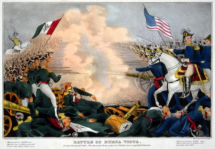 The Mexican American war: I chose to pin this to my board because it was a great visual of a face to face stand off. Both sides are standing firm and willing to die on this dispute.