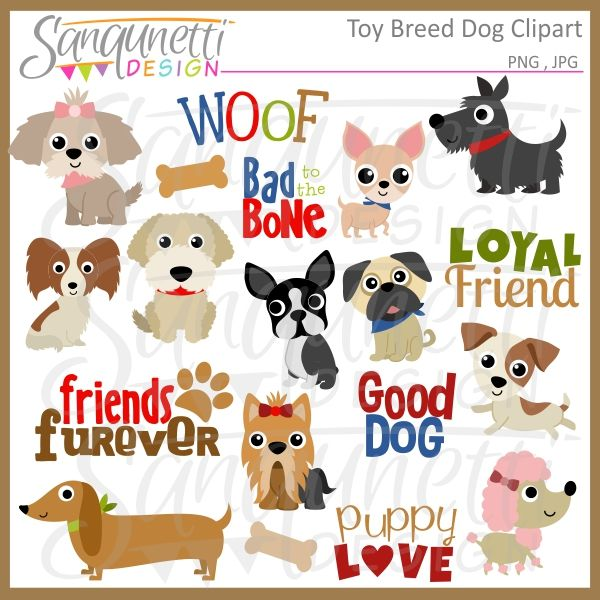 Toy Dog Breeds Clipart