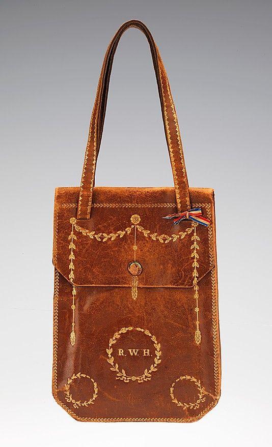 bag early 19th century leather italian