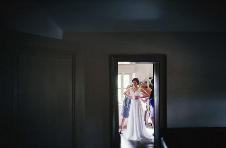 The dress is on! Wedding prep' in the beautiful light, colour and tones of Villa Parma in Daylesford. www.shaunguestphotography.com.au