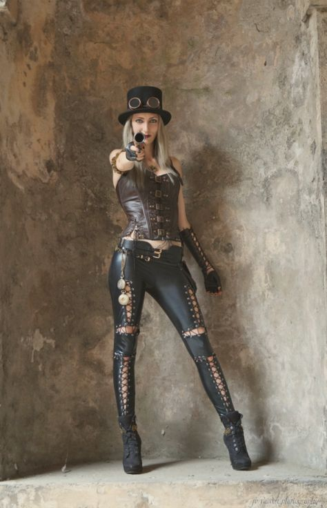 Steampunk Get these pants at: https://gosteampunk.com/products/summer-style-sexy-high-waist-suede-leather-straps-womens-solid-color-pant-skinny-pencil-leggings-for-women-pants