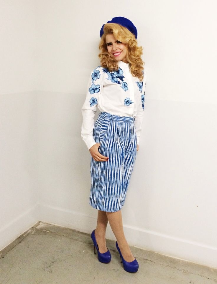 Paloma Faith in Ermanno Scervino S/S 2014 shirt with embroidered flowers in London  #scervinocelebs #ErmannoScervino
