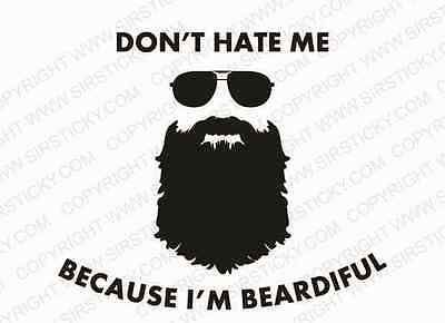 Beardiful  Vinyl Decal Funny Meme Moustache Lumbersexual Metrojack Car Sticker