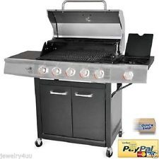 5 Burner Gas Grill Backyard Barbecue Stainless Steel Outdoor Cooking BBQ Propane