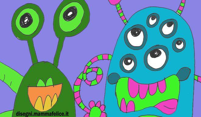 Disegno da colorare Mostri e Alieni