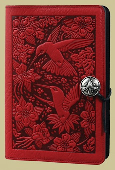 "Stunning hand tooled leather journal covers by Oberon Design. ""Hummingbird Small Journal"""