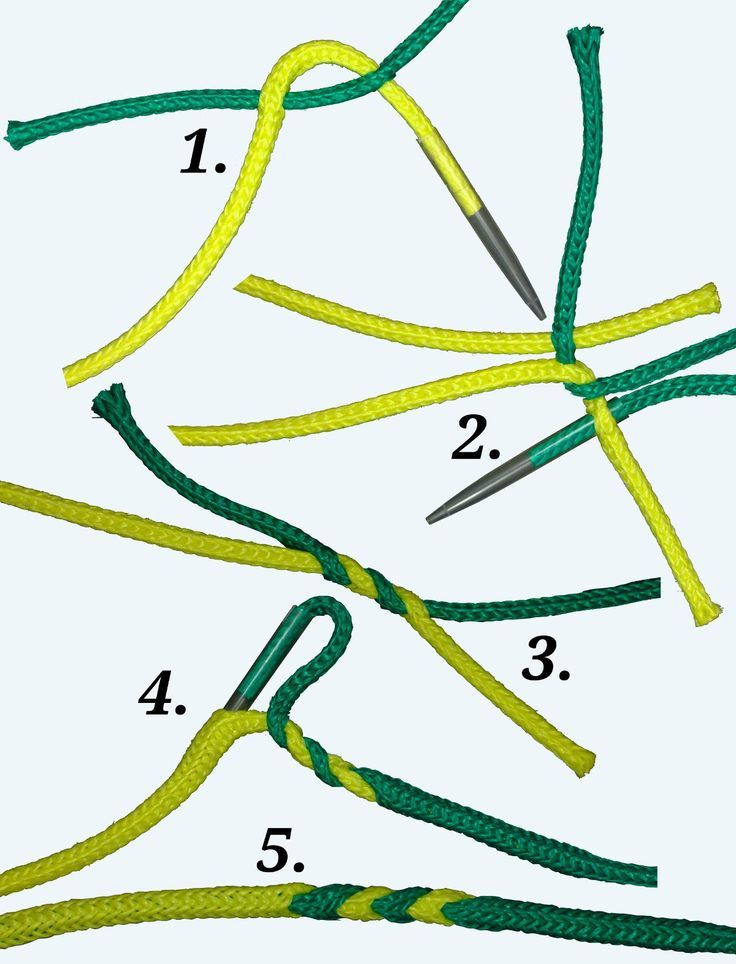 Spleißanleitung für einen Längsspleiß beim Hohlseil